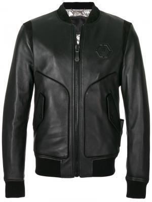 Куртка-бомбер James Philipp Plein. Цвет: чёрный