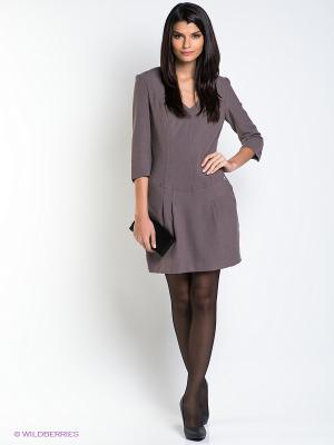 Платье CONVER. Цвет: серо-коричневый