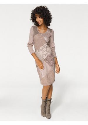 Платье LINEA TESINI by Heine. Цвет: розовый