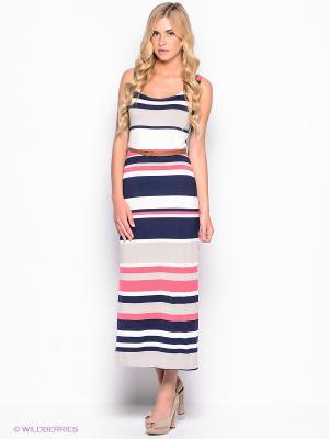 Платье New Look. Цвет: розовый, темно-синий, молочный