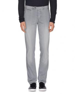 Джинсовые брюки PIATTO. Цвет: серый