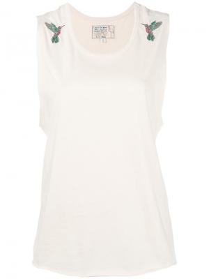 Bird embroidered blouse Sandrine Rose. Цвет: телесный