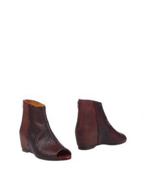Полусапоги и высокие ботинки SARTORI GOLD. Цвет: красно-коричневый