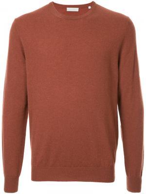 Классический пуловер с круглым вырезом Gieves & Hawkes. Цвет: жёлтый и оранжевый