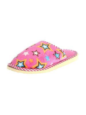 Тапочки домашние женские Migura. Цвет: розовый, желтый, белый, голубой, бежевый