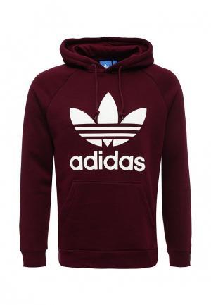 Худи adidas Originals. Цвет: бордовый