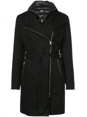 Асимметричная куртка на молнии Mackage. Цвет: чёрный