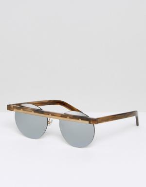 Han Kjobenhavn Круглые солнцезащитные очки. Цвет: коричневый