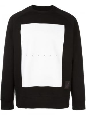 Contrast square sweatshirt Odeur. Цвет: чёрный