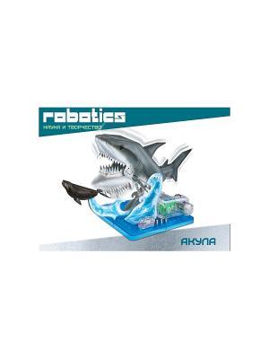 Научный опыт Акула на батарейках, в коробке Amazing Toys. Цвет: серый, голубой, зеленый