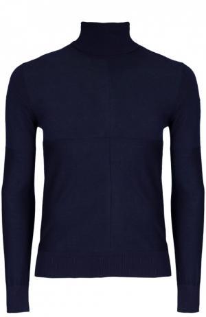 Вязаный пуловер Moncler. Цвет: темно-синий
