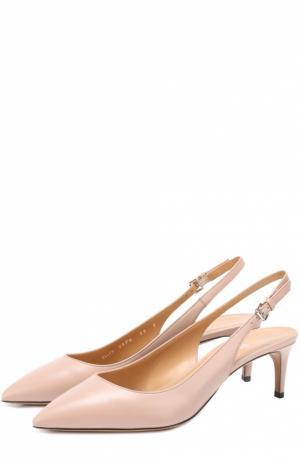 Кожаные туфли Ellun с ремешком Bally. Цвет: бежевый