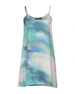Короткое платье MARIA CALDERARA. Цвет: зеленый