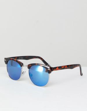 Jeepers Peepers Винтажные солнцезащитные очки в черепаховой оправе. Цвет: коричневый