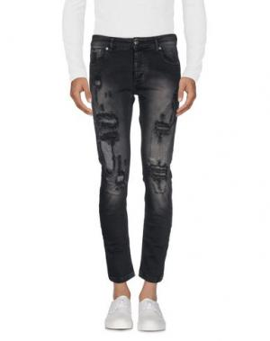 Джинсовые брюки ONE. Цвет: черный