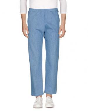 Джинсовые брюки CAMO. Цвет: синий