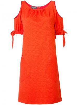 Платье Kolabo Talbot Runhof. Цвет: красный