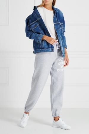 Хлопковые брюки Natasha Zinko. Цвет: none