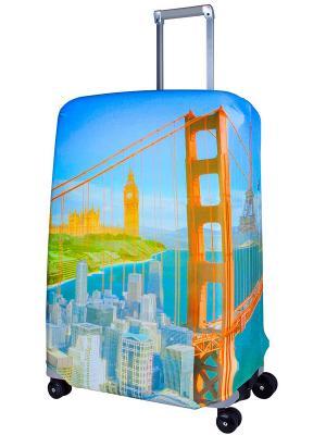 Чехол для чемодана Citizen L/XL Coverway. Цвет: голубой