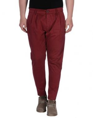 Повседневные брюки - -ONE > ∞. Цвет: красно-коричневый
