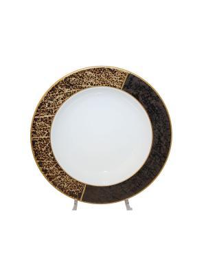 Тарелка  Gold Rush Elff Ceramics. Цвет: белый, коричневый