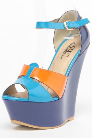 Босоножки Sorte Felice. Цвет: синий