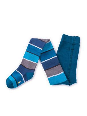 Колготки Mark Formelle. Цвет: синий, голубой, серый