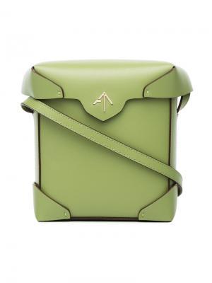 Сумка через плечо Pristine Manu Atelier. Цвет: зелёный