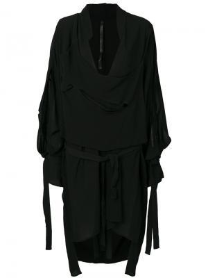 Асимметричная многослойная рубашка Barbara I Gongini. Цвет: чёрный
