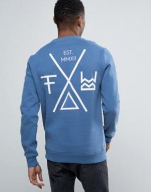 Friend or Faux Свитер с принтом на спине Transform. Цвет: синий