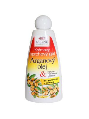 Гель для душа с Аргановым маслом и ши 260 мл. BioBione. Цвет: белый