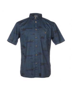Pубашка ANERKJENDT. Цвет: темно-синий