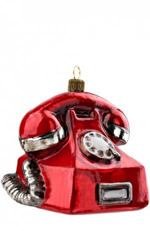 Елочная игрушка Телефон Atlas Art. Цвет: красный