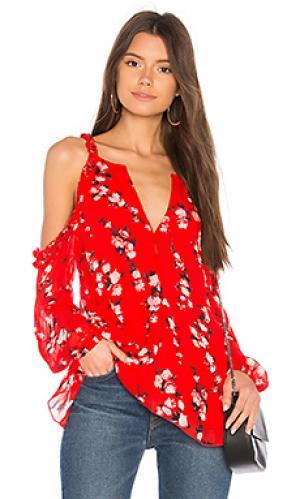 Блузка с длинным рукавом Karina Grimaldi. Цвет: красный