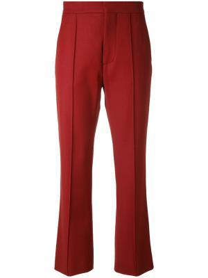 Укороченные брюки Marni. Цвет: красный