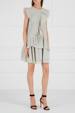 Платье с воланами A LA RUSSE. Цвет: серый