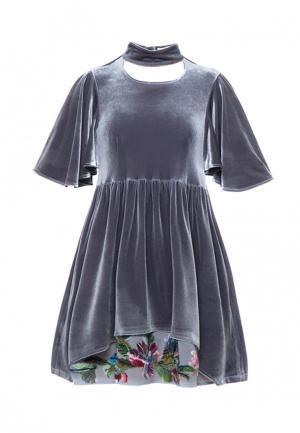 Платье Yukostyle. Цвет: серый