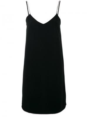 Платье на бретелях Gianluca Capannolo. Цвет: чёрный