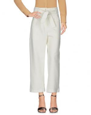 Повседневные брюки TRUE ROYAL. Цвет: белый