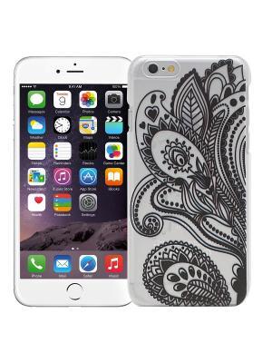 Чехол для iPhone 6/6s Мехенди Цветок (черный) Kawaii Factory. Цвет: черный, белый