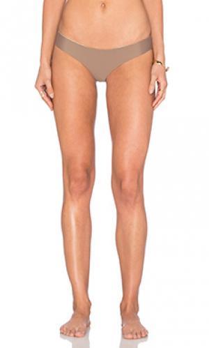 Cosita buena reversible buns out bikini bottom Luli Fama. Цвет: металлический золотой