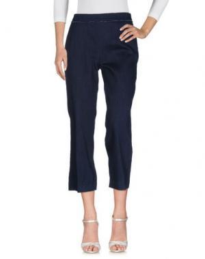Джинсовые брюки ODEEH. Цвет: синий