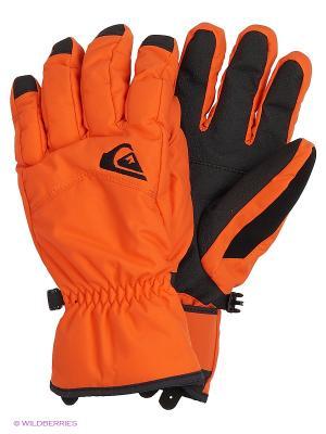 Перчатки Quiksilver. Цвет: красный