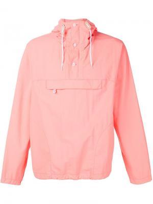 Куртка-пуловер с капюшоном Battenwear. Цвет: розовый и фиолетовый