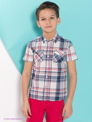 Рубашка PEPE JEANS LONDON. Цвет: белый, темно-синий