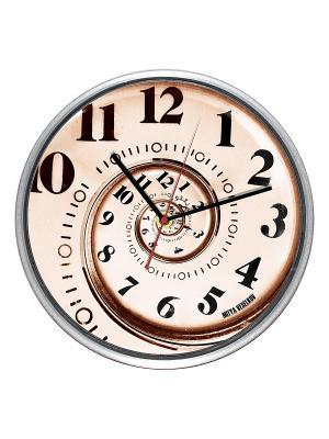 Часы настенные Спираль времени (30см) Mitya Veselkov. Цвет: белый