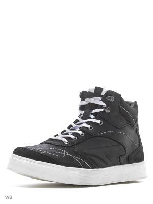 Ботинки Walrus. Цвет: черный, белый