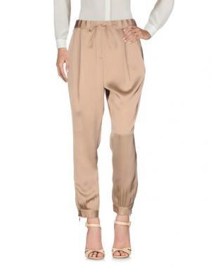 Повседневные брюки VIONNET. Цвет: светло-коричневый