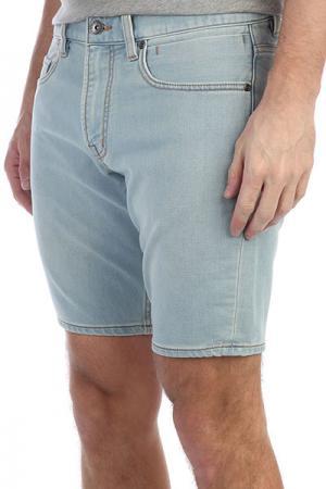 Шорты джинсовые  Revolstbleachs Bleached Surf Quiksilver. Цвет: голубой