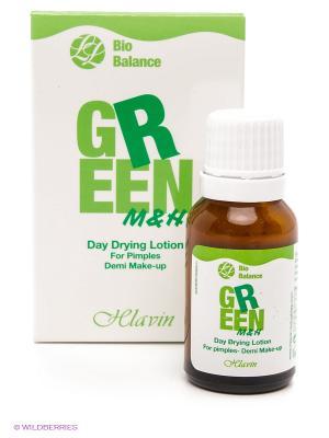 Подсушивающая дневная эмульсия с тонирующим эффектом  для жирной/комбинированной кожи HLAVIN. Цвет: зеленый